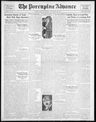 Porcupine Advance, 3 Nov 1932