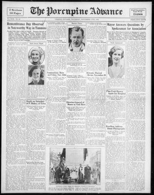 Porcupine Advance, 17 Nov 1932