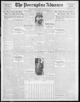 Porcupine Advance, 8 Dec 1932