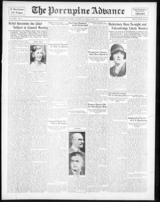 Porcupine Advance, 2 Mar 1933