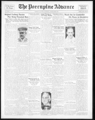 Porcupine Advance, 23 Mar 1933