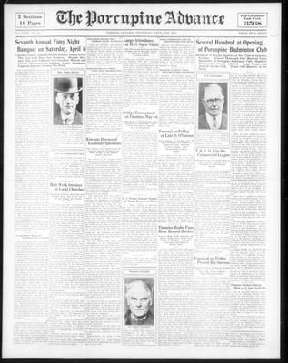 Porcupine Advance, 6 Apr 1933