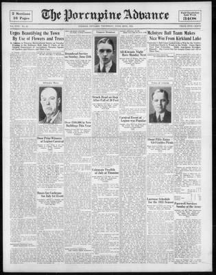 Porcupine Advance, 22 Jun 1933