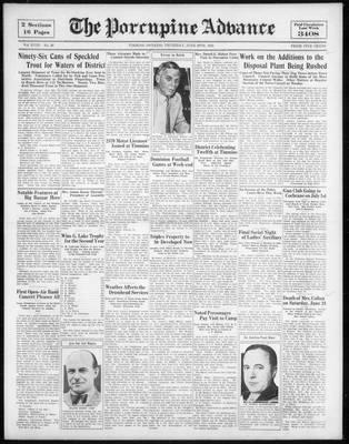 Porcupine Advance, 29 Jun 1933