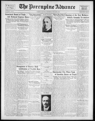 Porcupine Advance, 13 Jul 1933