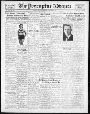 Porcupine Advance, 31 Aug 1933