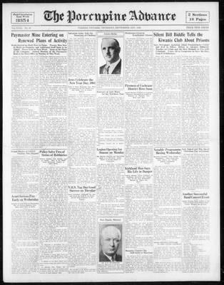 Porcupine Advance, 21 Sep 1933