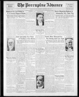 Porcupine Advance, 28 Sep 1933