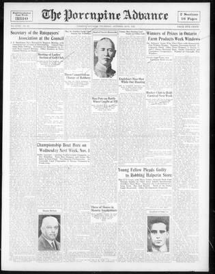 Porcupine Advance, 26 Oct 1933