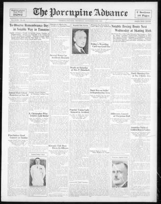 Porcupine Advance, 9 Nov 1933