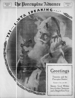 Porcupine Advance, 21 Dec 1933