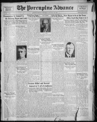 Porcupine Advance, 4 Jan 1934