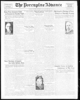 Porcupine Advance, 18 Jan 1934