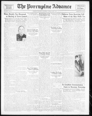 Porcupine Advance, 22 Mar 1934