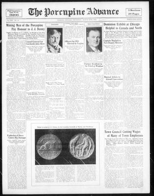 Porcupine Advance, 29 Mar 1934