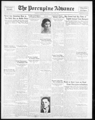 Porcupine Advance, 12 Apr 1934