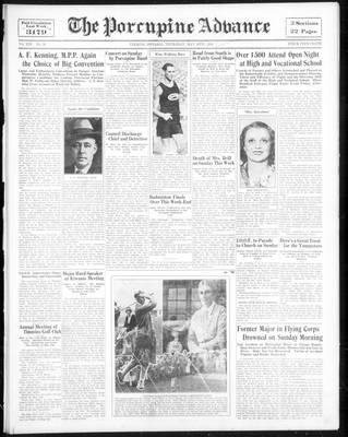 Porcupine Advance, 10 May 1934