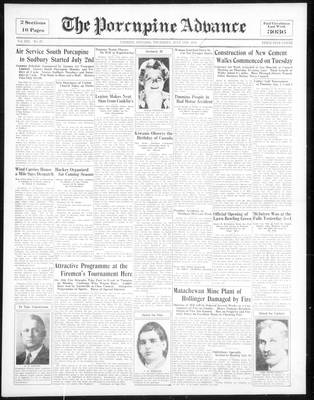 Porcupine Advance, 5 Jul 1934
