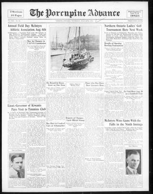 Porcupine Advance, 26 Jul 1934