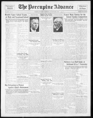 Porcupine Advance, 23 Aug 1934