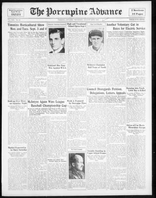 Porcupine Advance, 30 Aug 1934