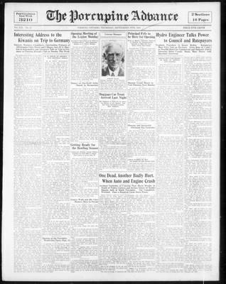 Porcupine Advance, 13 Sep 1934