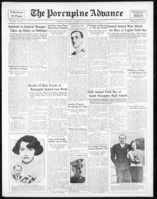 Porcupine Advance, 11 Oct 1934