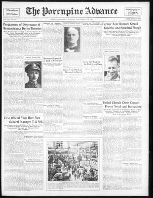 Porcupine Advance, 8 Nov 1934
