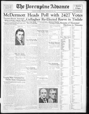 Porcupine Advance, 3 Dec 1934