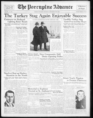 Porcupine Advance, 13 Dec 1934