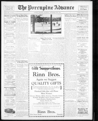 Porcupine Advance, 20 Dec 1934