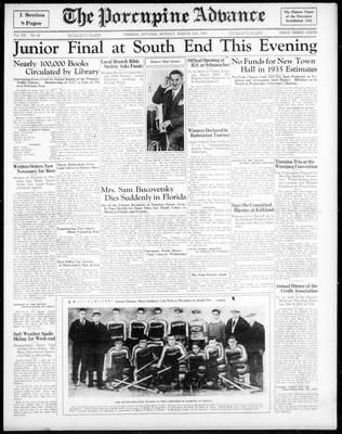 Porcupine Advance, 11 Mar 1935