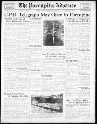 Porcupine Advance, 8 Apr 1935