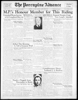 Porcupine Advance, 15 Apr 1935