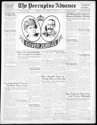 Porcupine Advance, 2 May 1935