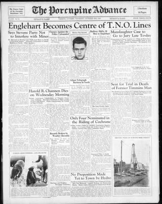 Porcupine Advance, 3 Oct 1935