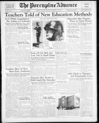 Porcupine Advance, 7 Oct 1935