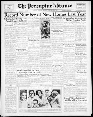 Porcupine Advance, 6 Jan 1936