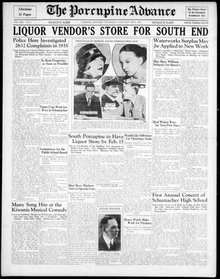 Porcupine Advance, 16 Jan 1936