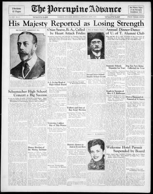 Porcupine Advance, 20 Jan 1936