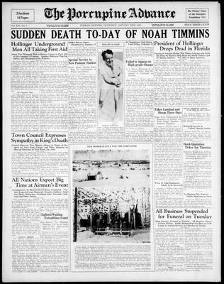 Porcupine Advance, 23 Jan 1936
