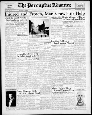 Porcupine Advance, 3 Feb 1936
