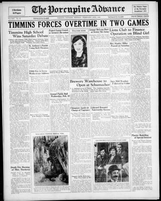 Porcupine Advance, 10 Feb 1936