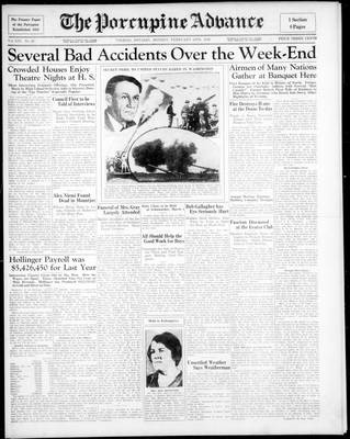Porcupine Advance, 24 Feb 1936