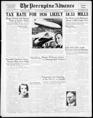 Porcupine Advance, 19 Mar 1936