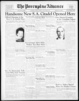 Porcupine Advance, 23 Mar 1936