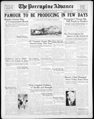 Porcupine Advance, 11 May 1936