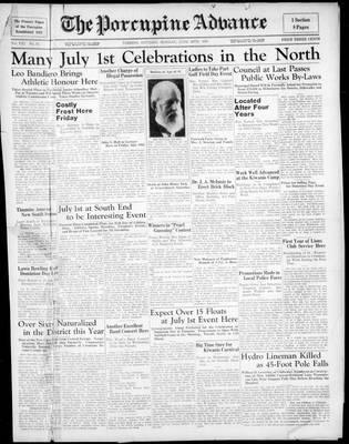 Porcupine Advance, 29 Jun 1936