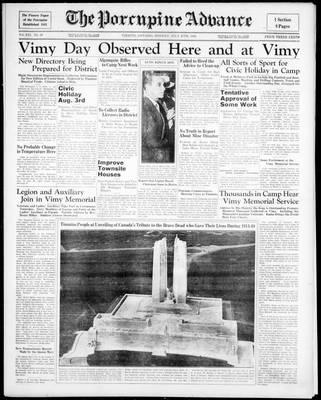 Porcupine Advance, 27 Jul 1936