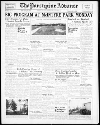 Porcupine Advance, 30 Jul 1936